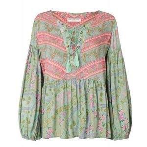 EUC Spell City LightS blouse in Sage, size Small